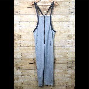 Gray Romper with Black Sparkle Straps